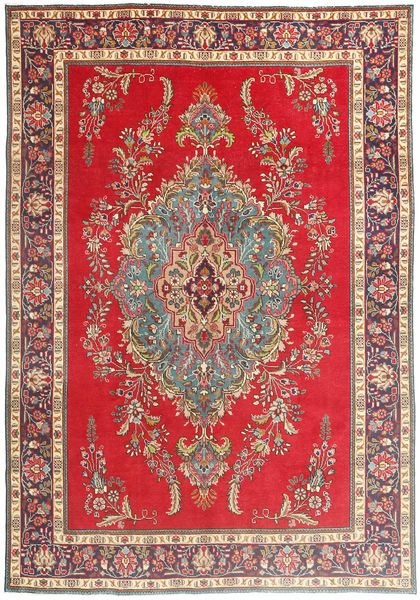 Tabriz Alfombra 200X290 Oriental Hecha A Mano Marrón/Marrón Claro (Lana, Persia/Irán)