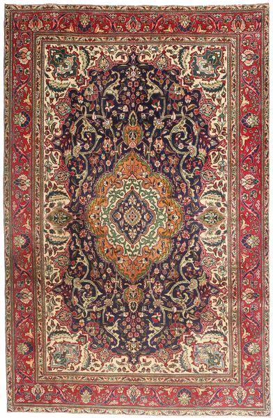 Tabriz Matto 203X308 Itämainen Käsinsolmittu Ruskea/Vaaleanruskea (Villa, Persia/Iran)