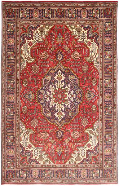 Tabriz Rug 195X308 Authentic  Oriental Handknotted Brown/Dark Brown (Wool, Persia/Iran)