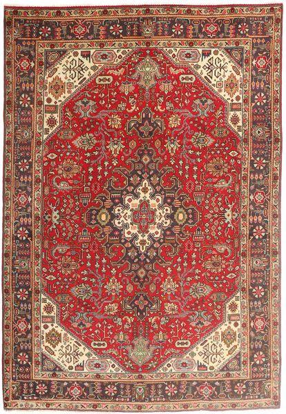 Tabriz Rug 200X294 Authentic  Oriental Handknotted Dark Red/Dark Brown (Wool, Persia/Iran)