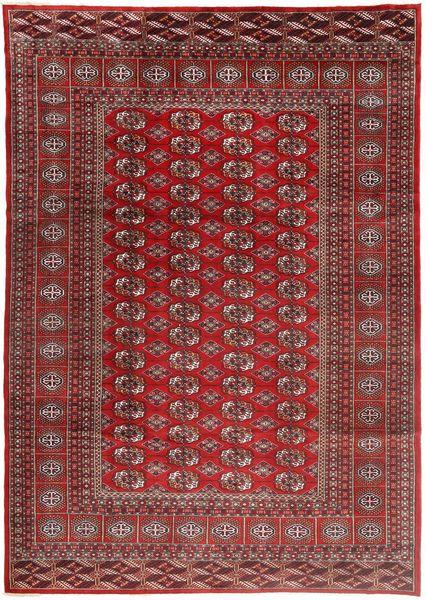 Turkaman Matto 228X322 Itämainen Käsinsolmittu Tummanpunainen/Ruskea (Villa, Persia/Iran)