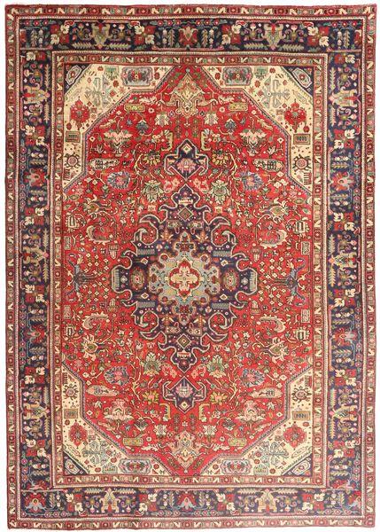 Tabriz Vloerkleed 200X280 Echt Oosters Handgeknoopt Donkerrood/Bruin (Wol, Perzië/Iran)