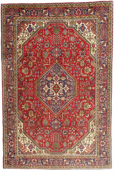 Tabriz Rug 198X300 Authentic  Oriental Handknotted Dark Brown/Dark Red (Wool, Persia/Iran)