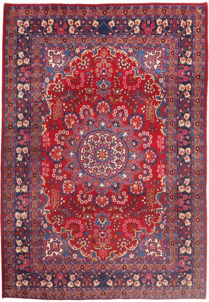 Moud Dywan 210X303 Orientalny Tkany Ręcznie Czerwony/Ciemnoczerwony (Wełna/Jedwab, Persja/Iran)