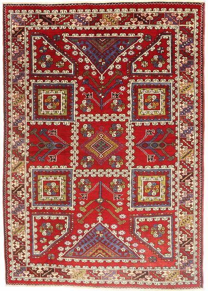 Kurdi Ghuchan Matto 193X281 Itämainen Käsinsolmittu Tummanpunainen/Ruoste (Villa, Persia/Iran)