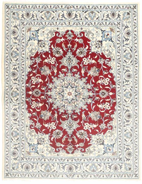 Nain Rug 147X192 Authentic  Oriental Handknotted Beige/Light Grey (Wool, Persia/Iran)