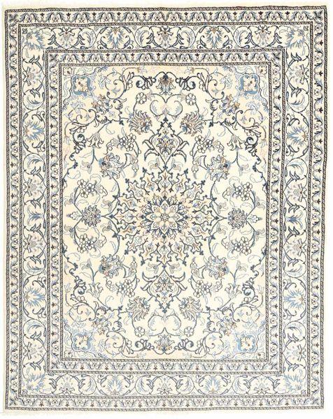 Nain Rug 150X192 Authentic  Oriental Handknotted Beige/Light Grey/Dark Beige (Wool, Persia/Iran)
