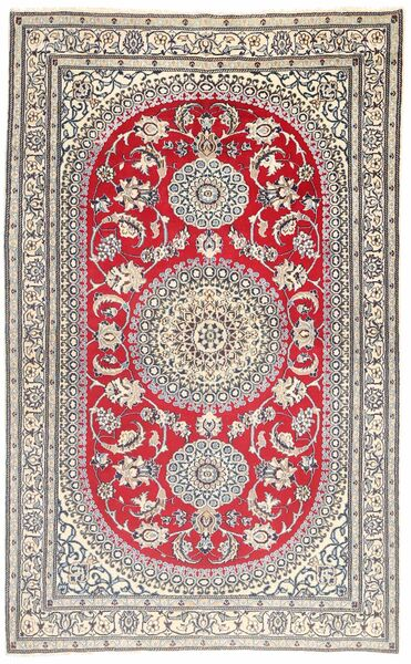 Naïn 9La Tapis 157X257 D'orient Fait Main Gris Clair/Marron (Laine/Soie, Perse/Iran)
