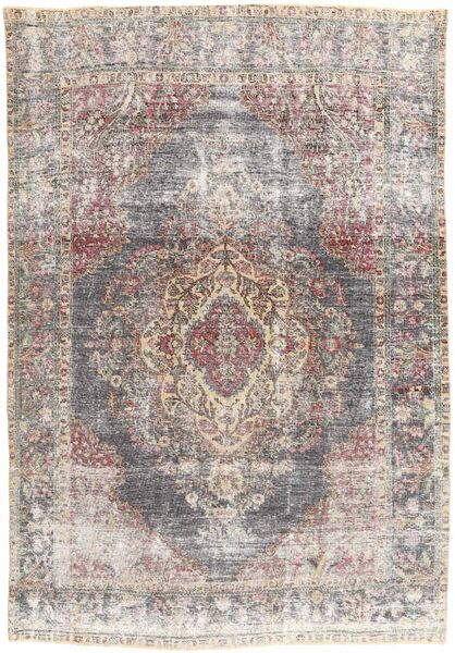 Colored Vintage Rug 200X300 Authentic  Modern Handknotted Light Grey/Beige (Wool, Persia/Iran)