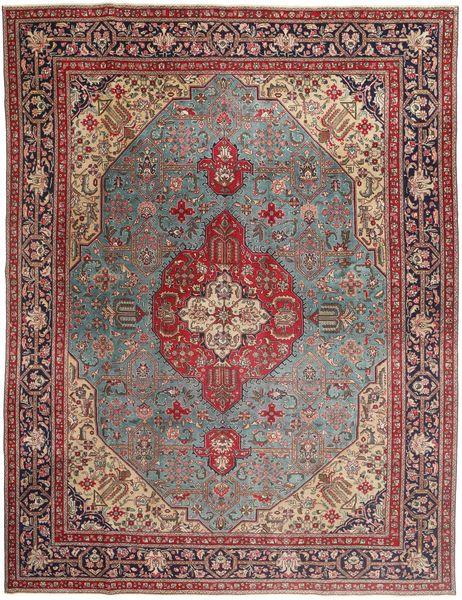 Tabriz Patina Matto 303X400 Itämainen Käsinsolmittu Tummanpunainen/Ruskea Isot (Villa, Persia/Iran)