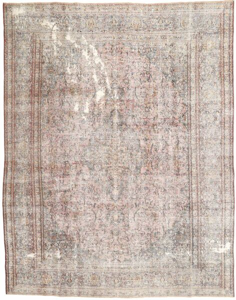 Colored Vintage Rug 287X375 Authentic  Modern Handknotted Light Grey/White/Creme Large (Wool, Persia/Iran)