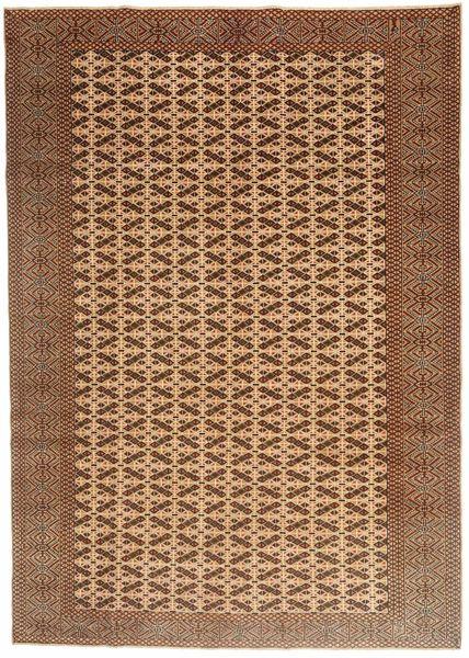 Turkaman Patina Matto 198X282 Itämainen Käsinsolmittu Ruskea/Vaaleanruskea (Villa, Persia/Iran)
