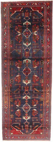 Hamadan Teppich  112X310 Echter Orientalischer Handgeknüpfter Läufer Dunkellila/Braun (Wolle, Persien/Iran)