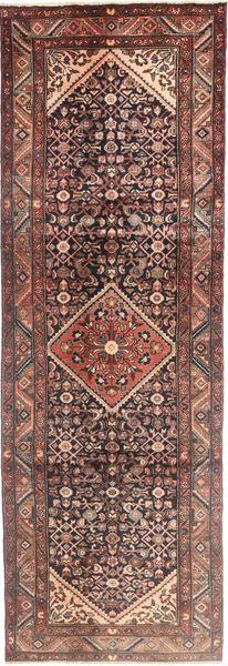 Hamadan Matto 105X320 Itämainen Käsinsolmittu Käytävämatto Tummanpunainen/Tummanruskea (Villa, Persia/Iran)