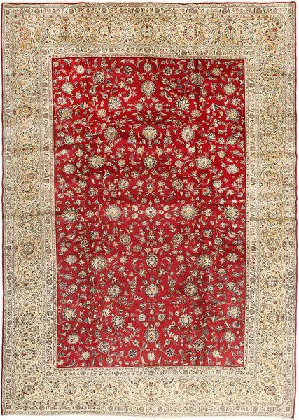 Yazd Matto 292X410 Itämainen Käsinsolmittu Vaaleanruskea/Tummanpunainen Isot (Villa, Persia/Iran)