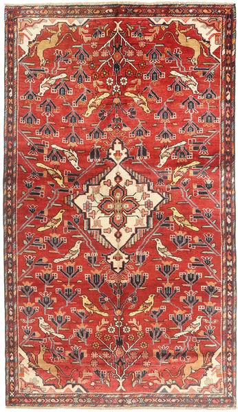 Hamadan Rug 150X258 Authentic  Oriental Handknotted Rust Red/Brown (Wool, Persia/Iran)