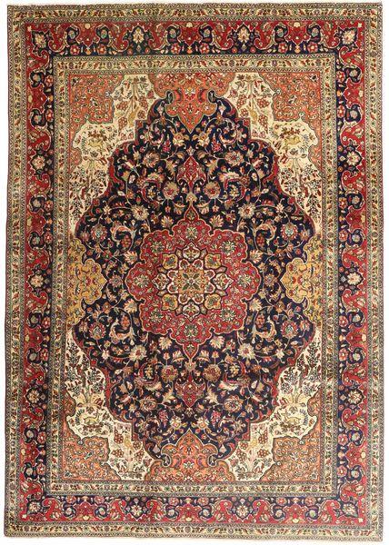 タブリーズ 絨毯 247X345 オリエンタル 手織り 濃い茶色/薄茶色 (ウール, ペルシャ/イラン)