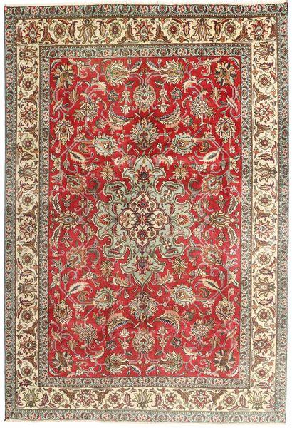 Tabriz Vloerkleed 200X293 Echt Oosters Handgeknoopt Lichtbruin/Bruin (Wol, Perzië/Iran)