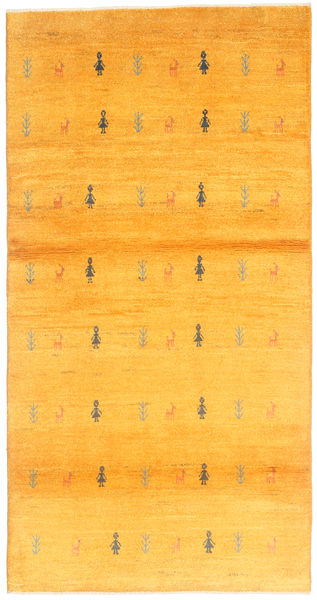 Gabbeh Persia Teppe 98X193 Ekte Moderne Håndknyttet Orange/Gul (Ull, Persia/Iran)