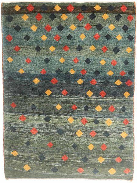 Gabbeh Persia Matto 115X150 Moderni Käsinsolmittu Tummanvihreä/Tummanharmaa (Villa, Persia/Iran)