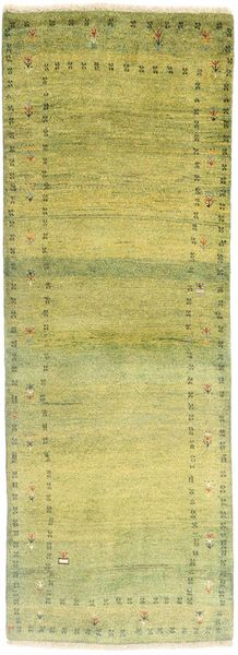 Gabbeh Persia Rug 84X236 Authentic  Modern Handknotted Hallway Runner  Yellow/Olive Green (Wool, Persia/Iran)