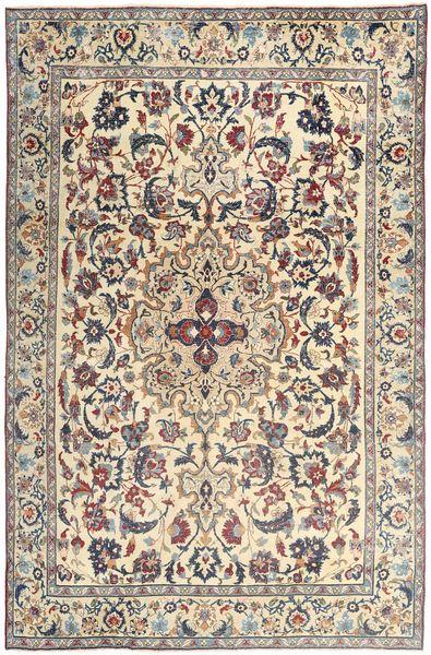 Yazd Patina Matto 237X365 Itämainen Käsinsolmittu Beige/Vaaleanruskea (Villa, Persia/Iran)