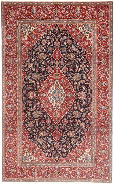 Keshan Patina Rug 205X335 Authentic  Oriental Handknotted Dark Red/Brown (Wool, Persia/Iran)