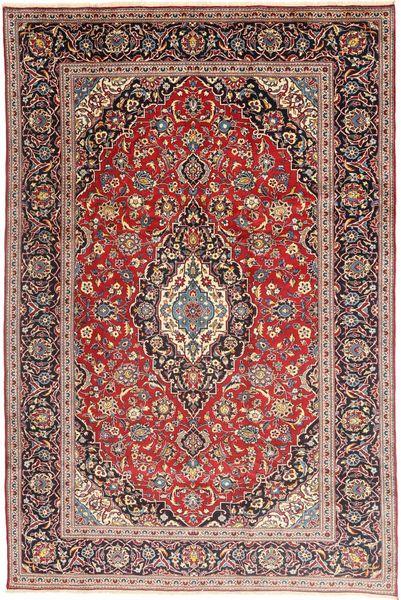 Keshan Matto 197X305 Itämainen Käsinsolmittu Tummanpunainen/Ruskea (Villa, Persia/Iran)