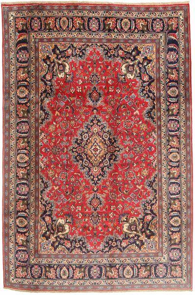 Mashad Rug 190X290 Authentic  Oriental Handknotted Light Brown/Dark Red (Wool, Persia/Iran)