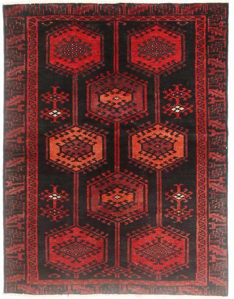 Loribaft ペルシャ 絨毯 130X170 モダン 手織り 深紅色の/濃い茶色 (ウール, ペルシャ/イラン)