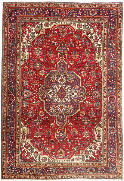 Tabriz Rug 200X290 Authentic  Oriental Handknotted Dark Red/Rust Red (Wool, Persia/Iran)
