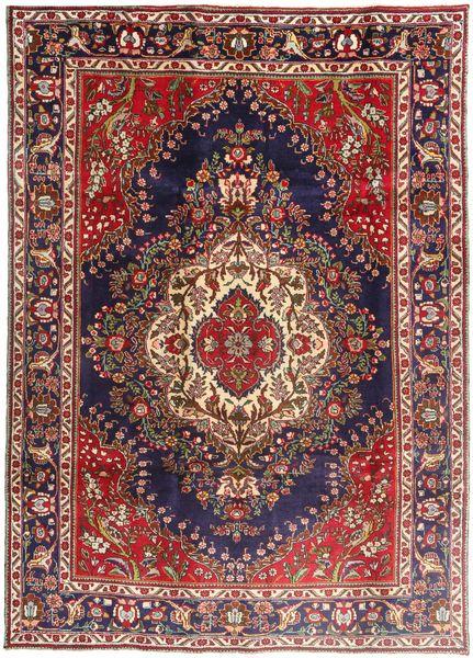 Tabriz Rug 203X290 Authentic  Oriental Handknotted Dark Red/Dark Brown (Wool, Persia/Iran)