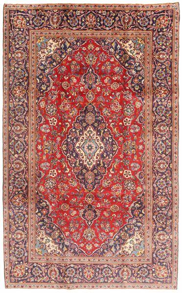 カシャン 絨毯 187X310 オリエンタル 手織り 深紅色の/薄茶色 (ウール, ペルシャ/イラン)