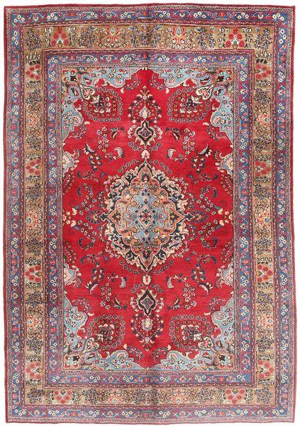 マシュハド 絨毯 203X295 オリエンタル 手織り 深紅色の/ライトピンク (ウール, ペルシャ/イラン)