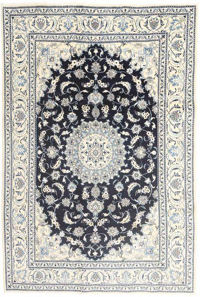 Nain Tapijt 194X292 Echt Oosters Handgeknoopt Beige/Donkergrijs (Wol, Perzië/Iran)