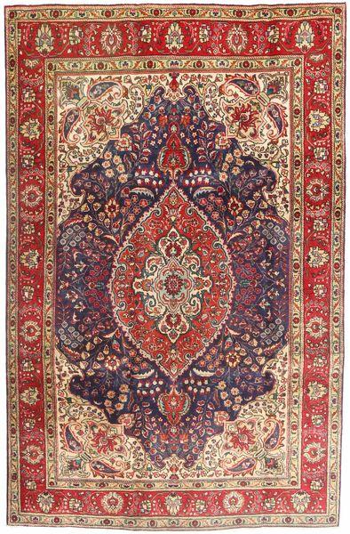Tabriz Rug 200X302 Authentic  Oriental Handknotted Dark Brown/Dark Red (Wool, Persia/Iran)