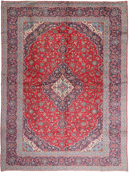 Keshan Patina Rug 293X405 Authentic  Oriental Handknotted Light Purple/Dark Purple Large (Wool, Persia/Iran)