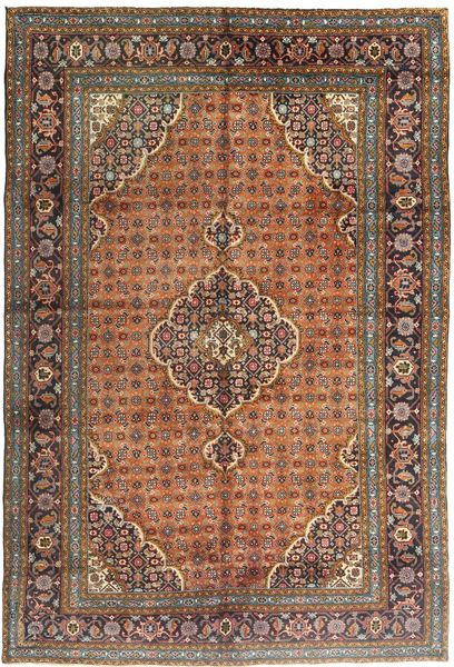 Ardebil Rug 195X290 Authentic  Oriental Handknotted Brown/Light Brown (Wool, Persia/Iran)
