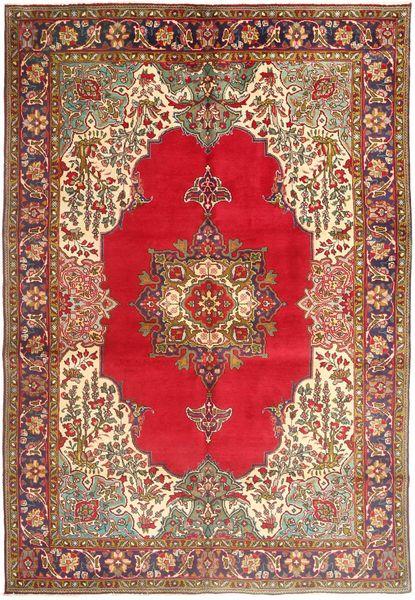 Tabriz Rug 205X303 Authentic  Oriental Handknotted Brown/Dark Red (Wool, Persia/Iran)