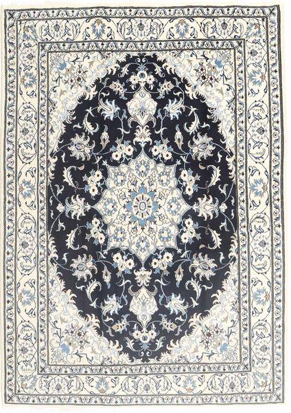Nain Rug 168X240 Authentic  Oriental Handknotted Light Grey/Dark Grey (Wool, Persia/Iran)