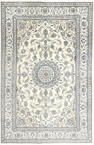 Nain Dywan 197X303 Orientalny Tkany Ręcznie Beżowy/Jasnoszary (Wełna, Persja/Iran)