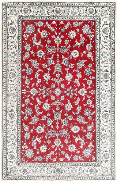 ナイン 絨毯 195X305 オリエンタル 手織り 薄い灰色/赤 (ウール, ペルシャ/イラン)