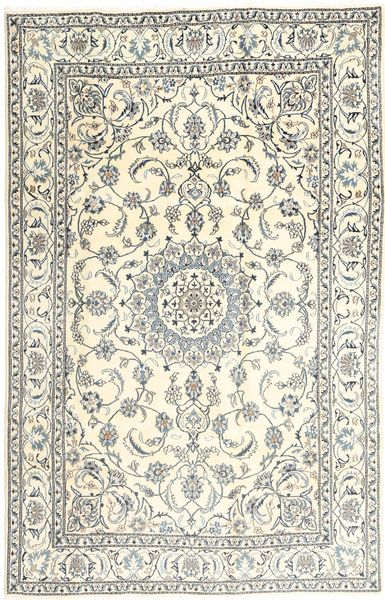 Nain Dywan 192X298 Orientalny Tkany Ręcznie Beżowy/Jasnoszary (Wełna, Persja/Iran)