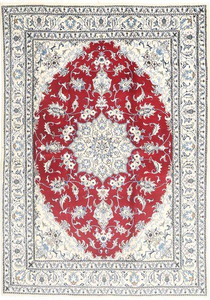 Nain Tappeto 168X243 Orientale Fatto A Mano Beige/Grigio Chiaro (Lana, Persia/Iran)