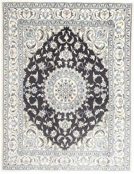Nain Rug 195X251 Authentic  Oriental Handknotted Light Grey/Beige (Wool, Persia/Iran)