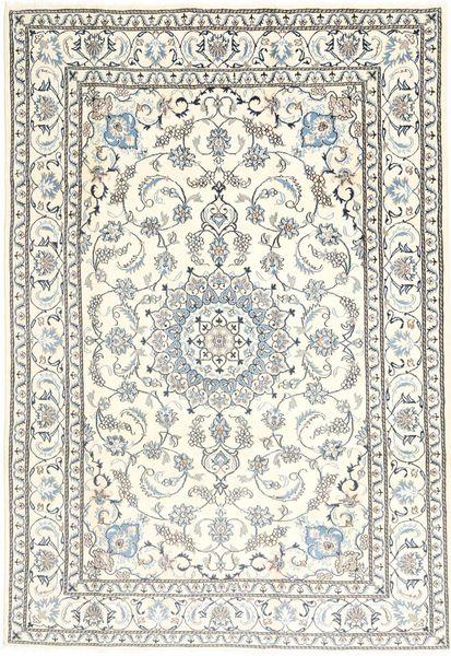 Nain Dywan 199X292 Orientalny Tkany Ręcznie Jasnoszary/Beżowy/Biały/Creme (Wełna, Persja/Iran)