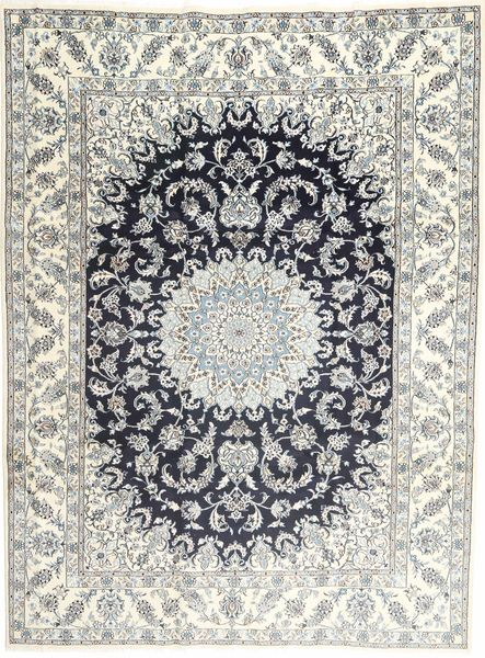 Nain Rug 257X340 Authentic  Oriental Handknotted Light Grey/Beige Large (Wool, Persia/Iran)