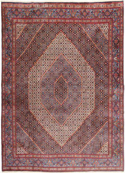 Moud Matto 270X370 Itämainen Käsinsolmittu Tummanpunainen/Ruskea Isot (Villa/Silkki, Persia/Iran)