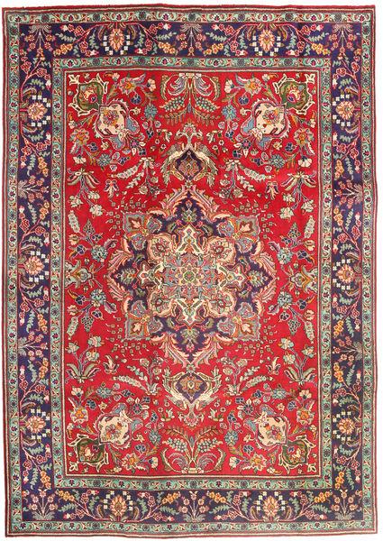 Tabriz Matto 205X292 Itämainen Käsinsolmittu Ruoste/Tummanpunainen (Villa, Persia/Iran)