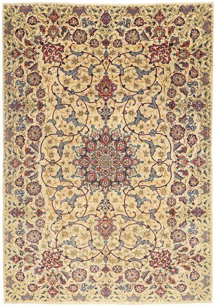 Najafabad Patina Matto 225X325 Itämainen Käsinsolmittu Tummanbeige/Vaaleanruskea/Ruskea (Villa, Persia/Iran)